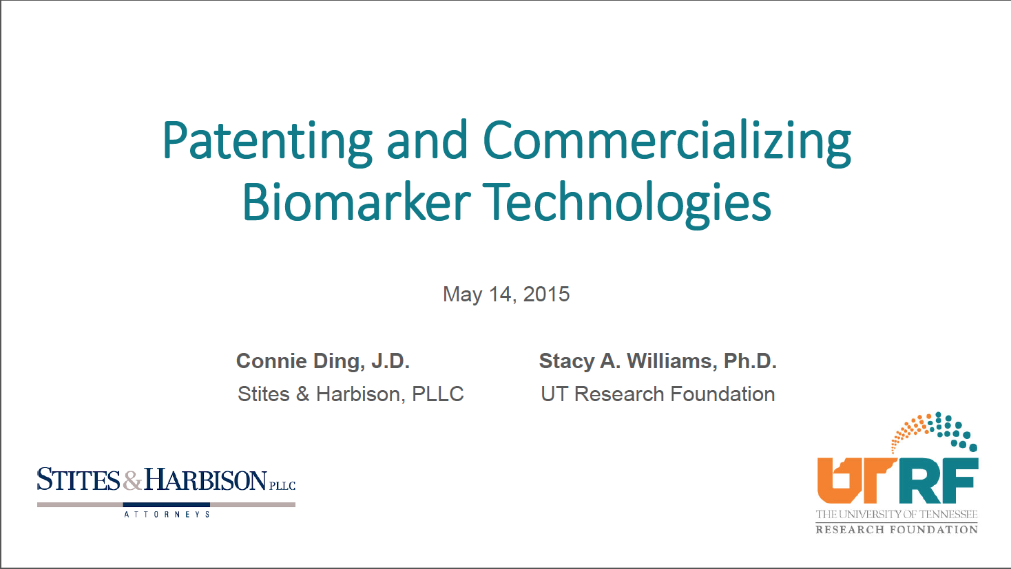 Patenting-and-Commercializing-Biomarker-Technologies